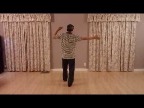 锦上南京 背面 St. Anne's Gym Beginner Class - San Francisco Chinese Line Dance 三藩市鳳凰飛健舞社