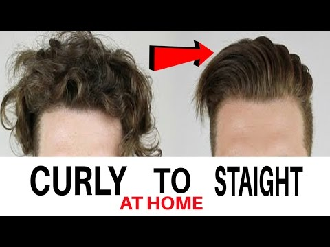 Men's Hair straightening at home | Messy to straight hairstyle for men