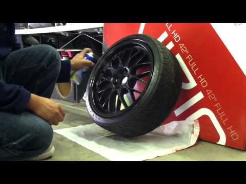 Plasti Dip Glossifier over Black Plasti Dipped Rims - Dirty Dippin Auto