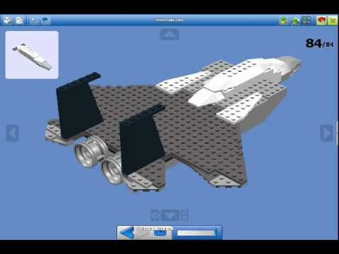 Lego Creation   How To Make A Lego Jet Fighter (F15)