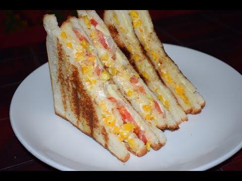 Grilled Corn Mayo Sandwich Recipe