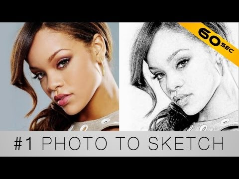 Turn your photo into a sketch - Photoshop in 60 seconds