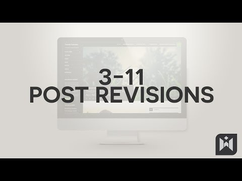 WordPress for Beginners 2015 Tutorial Series | Chapter 3-11: Posts Revisions