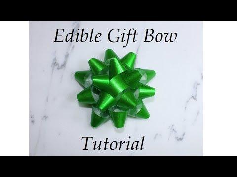 Edible Gift Bow Tutorial