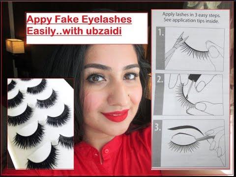 How to Apply Fake Eyelashes, False Eyelashes Easy Application