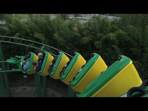 The Dragon Roller Coaster On Ride POV | Legoland Florida