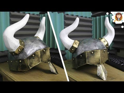 How to make a Helmet out of Cardboard - (Viking - Cosplay)