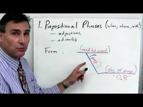 Phrases part 1: understanding and diagramming prepositional phrases