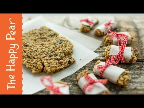 Flapjack / Granola Bar Recipe | Easy Vegan Snack | THE HAPPY PEAR