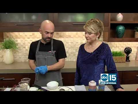 Executive Chef Paul Lindsay fromThe Porch Arcadia prepares brunch items
