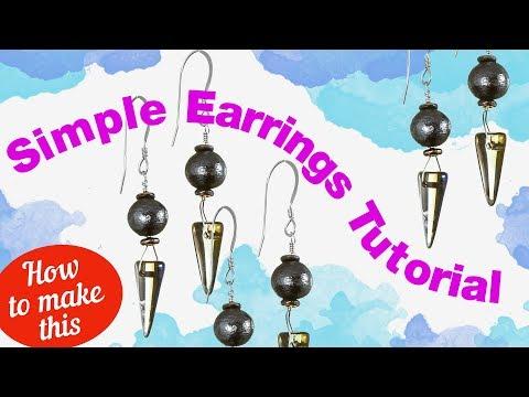 DIY: Simple Spike Modern Earrings Tutorial