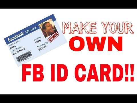 How to make a FB ID card in 30 seconds!!!