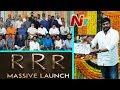 RRR Movie Launch Video Ram Charan Jr NTR SS Rajamouli Chiranjeevi Prabhas Rana NTV mp3