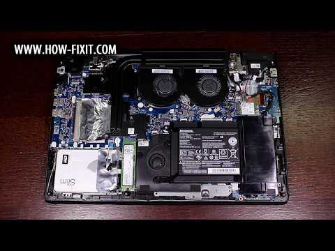 Lenovo IdeaPad Y700-15ISK BIOS reset, reinicio del BIOS, сброс БИОСа ноутбука