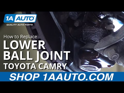 How to replace Install Front Lower Ball Joint 92-01 Toyota Camry