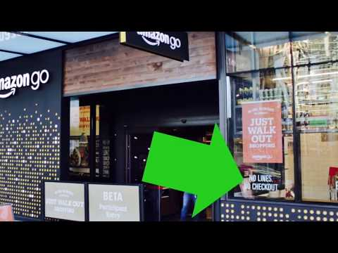 AMAZON GO   CASHIER-LESS STORE   JUST WALK OUT!