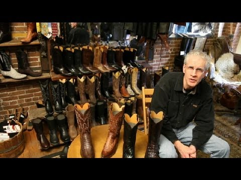 How to Tell Real Alligator Leather Boots : Cowboy Boots
