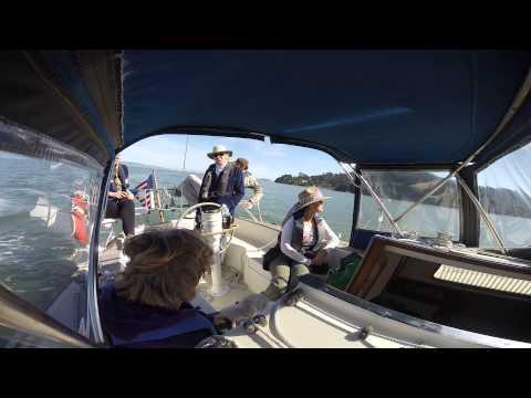 Sailing in the San Francisco North Bay near Angel Island