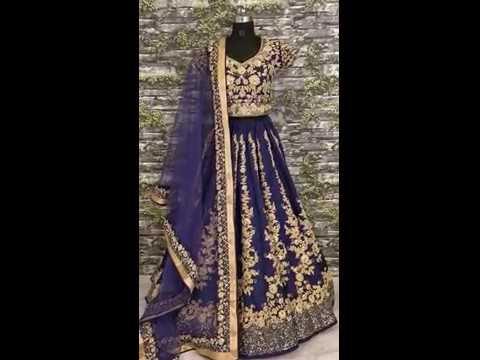 Navy Blue Bridal Lehenga Choli | Latest Bridal Lehenga Choli