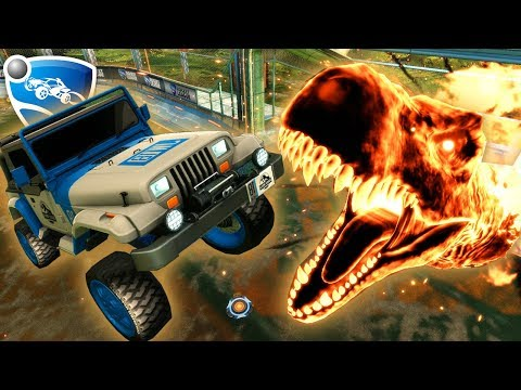 JURASSIC WORLD DLC SHOWCASE | Rocket League