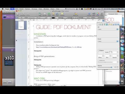 PDF print guide Mac os x