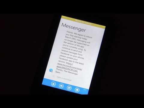 Windows phone now not showing Facebook 'messenger' messages