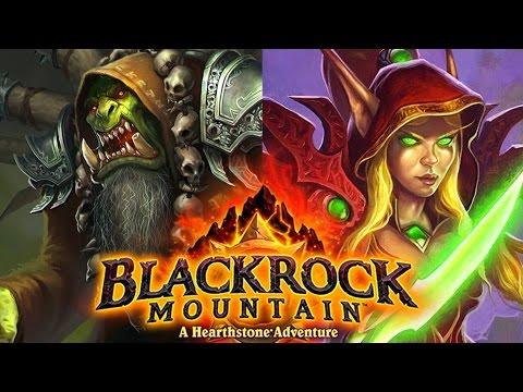 Hearthstone: Blackrock Mountain Adventure! Warlock and Rogue Class Challenges