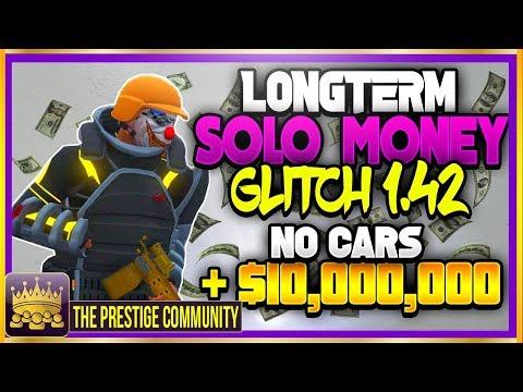 GTA 5 SOLO MONEY GLITCH 1.42 *NO CARS* ''SOLO'' UNLIMITED MONEY GLITCH ONLINE 1.42 (Ps4/Xbox One/PC)