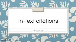 How to do in-text citations (Chicago Author-Date Style)