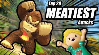 Top 20 MEATIEST Attacks in Smash Bros Ultimate | ASMR