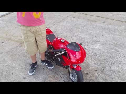 40cc POCKET BIKE W/ MUFFLER DELETE!!??