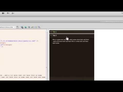 Dreamweaver Tutorial: JQuery UI Accordion