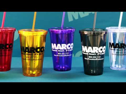 16 oz. Acrylic Double Wall Tumbler - Branding At Its Coolest - MARCO