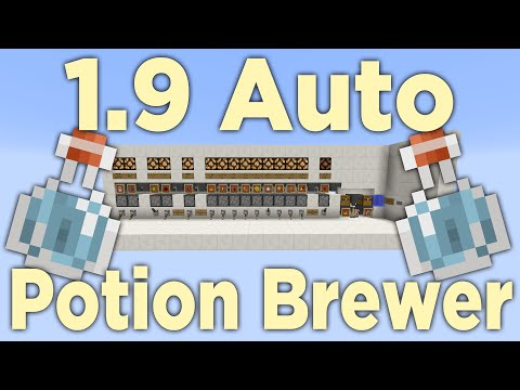 Minecraft 1.9: Automatic Potion Brewer - Compact Redstone Tutorial