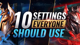 10 BEST Settings EVERYONE Should Use RIGHT NOW! - League of Legends Season 10