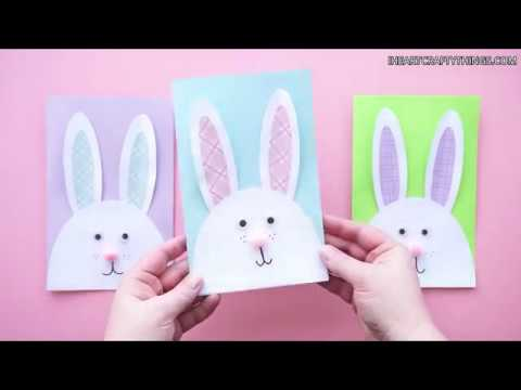 How to make a DIY Bunny Easter Card
