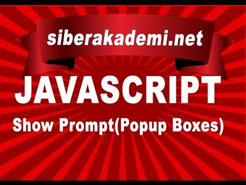 Javascript Show Prompt (Popup Boxes)