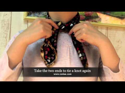 How To Tie a Silk Scarf with Classic Knot