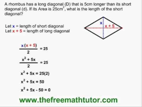 Quadratic Geometry Problems - Example 2