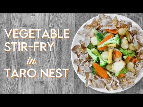 TARO CHIP BIRD'S NEST Vegetable Stir-fry Recipe