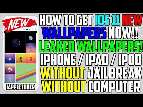How To Get New iOS 11 GM Leaked Wallpapers NOW FREE (NO Jailbreak NO Computer) iPhone, iPad, iPod