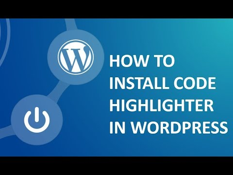 How to install code highlighter in wordpress on cpanel