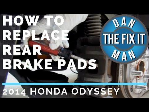 2014 Honda Odyssey Rear Brake Pad Replacement - DIY