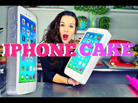 GIANT IPHONE CHOCOLATE MUD CAKE W/ APP DECORATIONS   BONUS VIDEO   BY VERUSCA WALKER