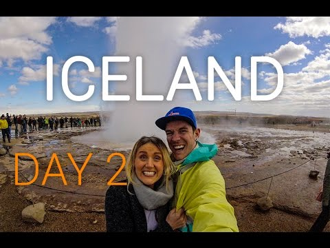 Iceland Vlog Day 2: The Golden Circle | Gullfoss | Strokkur Geysir | Hrunalaug