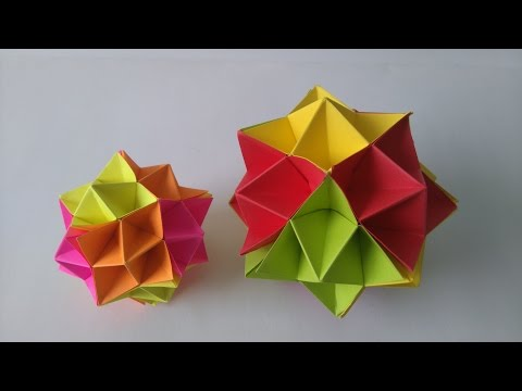 Origami Toys - How to make an Origami Spike Ball step-by-step