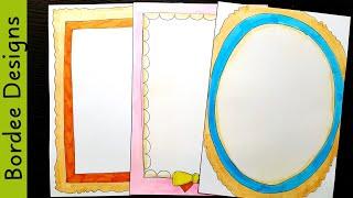 Britto Border Designs On Paper Border Designs Project Work Designs