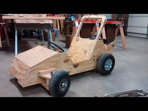 Wood Go Kart Winter Build Status: Go Kart Guru Vlog November 2015