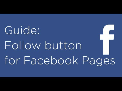 Using the Facebook follow button for Facebook Pages