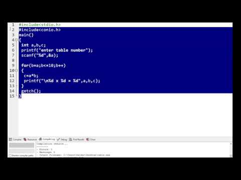 How To Make Table In C Language (URDU/HINDI) Tutorial